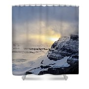 Glacier Above Lake Louise Alberta Canada Shower Curtain by Mary Lee Dereske