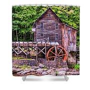 Glade Creek Grist Mill Shower Curtain by Steve Harrington