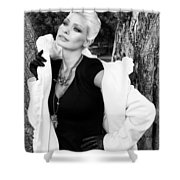 Glamour Bw Palm Springs Shower Curtain by William Dey