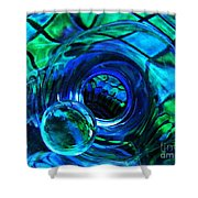 Glass Abstract 226 Shower Curtain by Sarah Loft