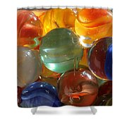 Glass In Glass 3 Shower Curtain by Mary Bedy
