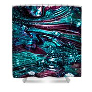 Glass Macro Abstract Rb3 Shower Curtain by David Patterson