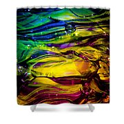Glass Macro Abstract RCY1 Shower Curtain by David Patterson