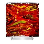 Glass Macro Abstract RF1CE Shower Curtain by David Patterson