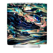 Glass Macro Abstract Rpoce Shower Curtain by David Patterson