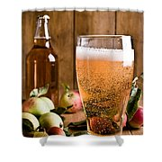 Glass Of Cyder Shower Curtain by Amanda And Christopher Elwell