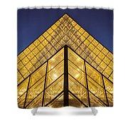 Glass Pyramid Shower Curtain by Brian Jannsen
