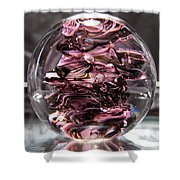 Glass Sculpture Black And Pink Rbp Shower Curtain by David Patterson