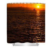 Glimmer Shower Curtain by Chad Dutson
