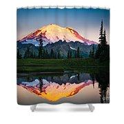 Glowing Peak Shower Curtain by Inge Johnsson