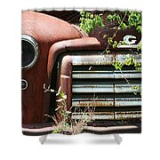 Gmc Grill Work Shower Curtain by Kathy Clark