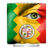 Go Los Angeles Shower Curtain by Semmick Photo