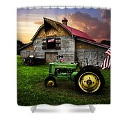 God Bless America Shower Curtain by Debra and Dave Vanderlaan