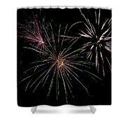 God Bless America Fireworks Shower Curtain by Christina Rollo