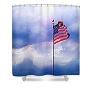 God Bless America Shower Curtain by Kume Bryant