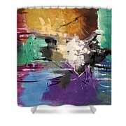 God Is Love Shower Curtain by Anthony Falbo