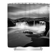 Godafoss Shower Curtain by Dave Bowman
