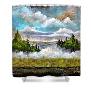 Going Home Shower Curtain by Patrice Torrillo
