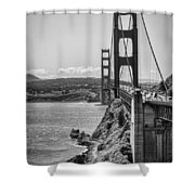 Going To San Francisco Shower Curtain by Heather Applegate