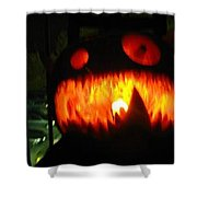 Going Up Pumpkin Shower Curtain by Shawn Dall
