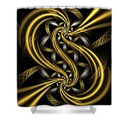 Gold And Silver Shower Curtain by Sandy Keeton