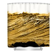 Gold Nugget Shower Curtain by Sean Davey