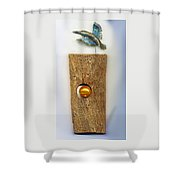 Gold  Orb Shower Curtain by Hartmut Jager
