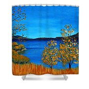 Golden Autumn Shower Curtain by Anastasiya Malakhova