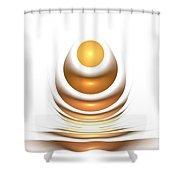 Golden Egg Shower Curtain by Anastasiya Malakhova