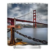 Golden Gate Bridge Shower Curtain by Eduard Moldoveanu
