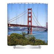 Golden Gate Bridge Shower Curtain by Kelley King