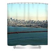 Golden Gate Bridge Shower Curtain by Linda Woods
