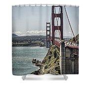 Golden Gate Shower Curtain by Heather Applegate