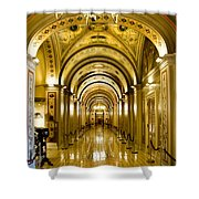 Golden Government Shower Curtain by Greg Fortier