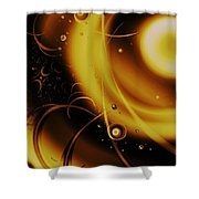 Golden Halo Shower Curtain by Anastasiya Malakhova