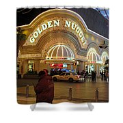 Golden Nugget Shower Curtain by Kay Novy