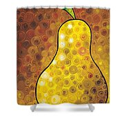 Golden Pear Shower Curtain by Sharon Cummings