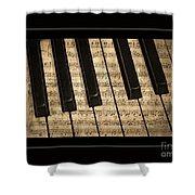 Golden Pianoforte Classic Shower Curtain by John Stephens