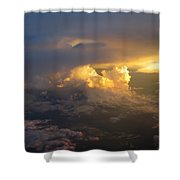 Golden Rays Shower Curtain by Ausra Paulauskaite