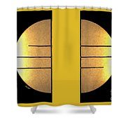 Golden Sun Diptych Shower Curtain by Cheryl Young