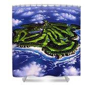 Golfer's Paradise Shower Curtain by Jerry LoFaro