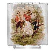 Golfing Shower Curtain by Ellen Hattie Clapsaddle