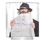 Good News Shower Curtain by Edward Fielding