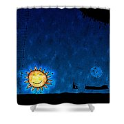 Good Night Sun Shower Curtain by Gianfranco Weiss