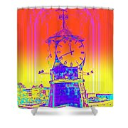 Good Time Shower Curtain by Hilde Widerberg