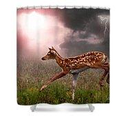 Goodbye Bambi Shower Curtain by Bill Stephens