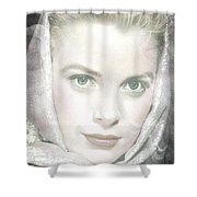 Grace Kelly Shower Curtain by M and L Creations