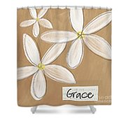 Grace Shower Curtain by Linda Woods