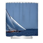 Grace Under Sail Shower Curtain by Skip Willits
