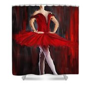 Graceful Stand Shower Curtain by Lourry Legarde